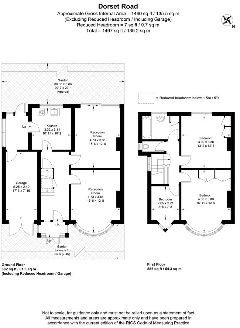Floorplan for Dorset Road, Wimbledon